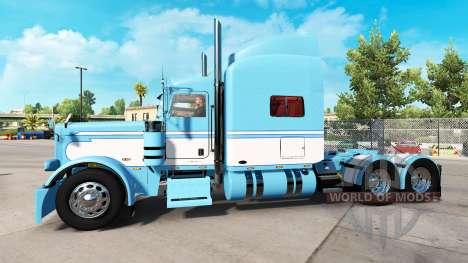 Haut-Light Blue-White für die truck-Peterbilt 38 für American Truck Simulator