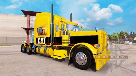 CAT skin für den truck-Peterbilt 389 für American Truck Simulator