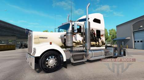 Haut-Ritter auf der LKW-Kenworth W900 für American Truck Simulator