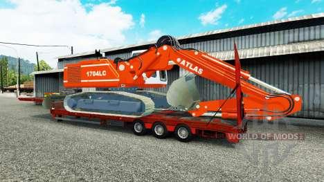 Low sweep mit dem Bagger ATLAS für Euro Truck Simulator 2