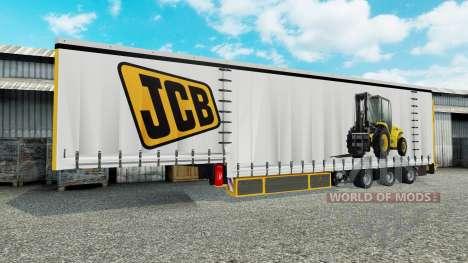 Vorhang Auflieger Krone JCB für Euro Truck Simulator 2