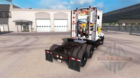 Voiture de peau de l'art sur un tracteur Kenwort pour American Truck Simulator