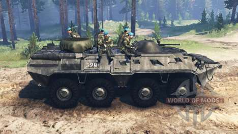 BTR-80 pour Spin Tires