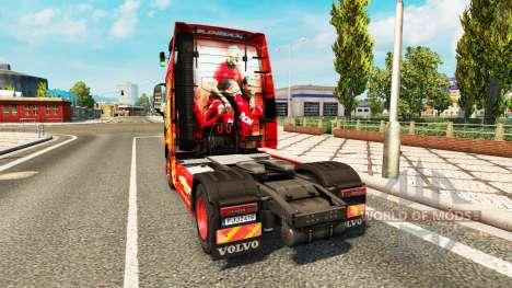 Manchester United skin für Volvo-LKW für Euro Truck Simulator 2