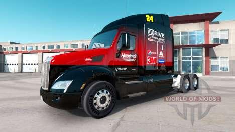 Hendrick skin für den truck Peterbilt für American Truck Simulator