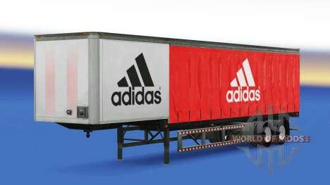 La peau Adidas sur la remorque pour American Truck Simulator