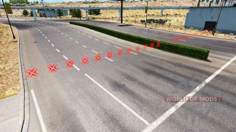 Rote Barrieren für American Truck Simulator