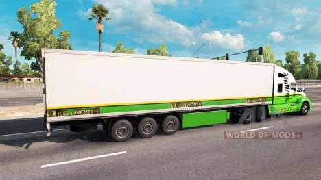 La peau Gold Edition tracteur Kenworth pour American Truck Simulator