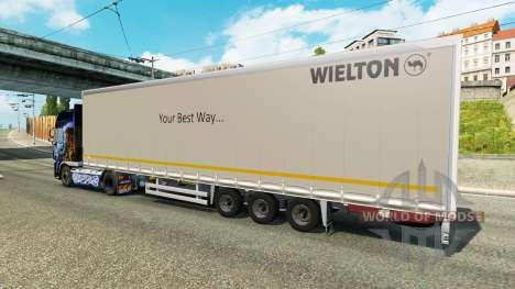 Rideau semi-remorque Wielton pour Euro Truck Simulator 2