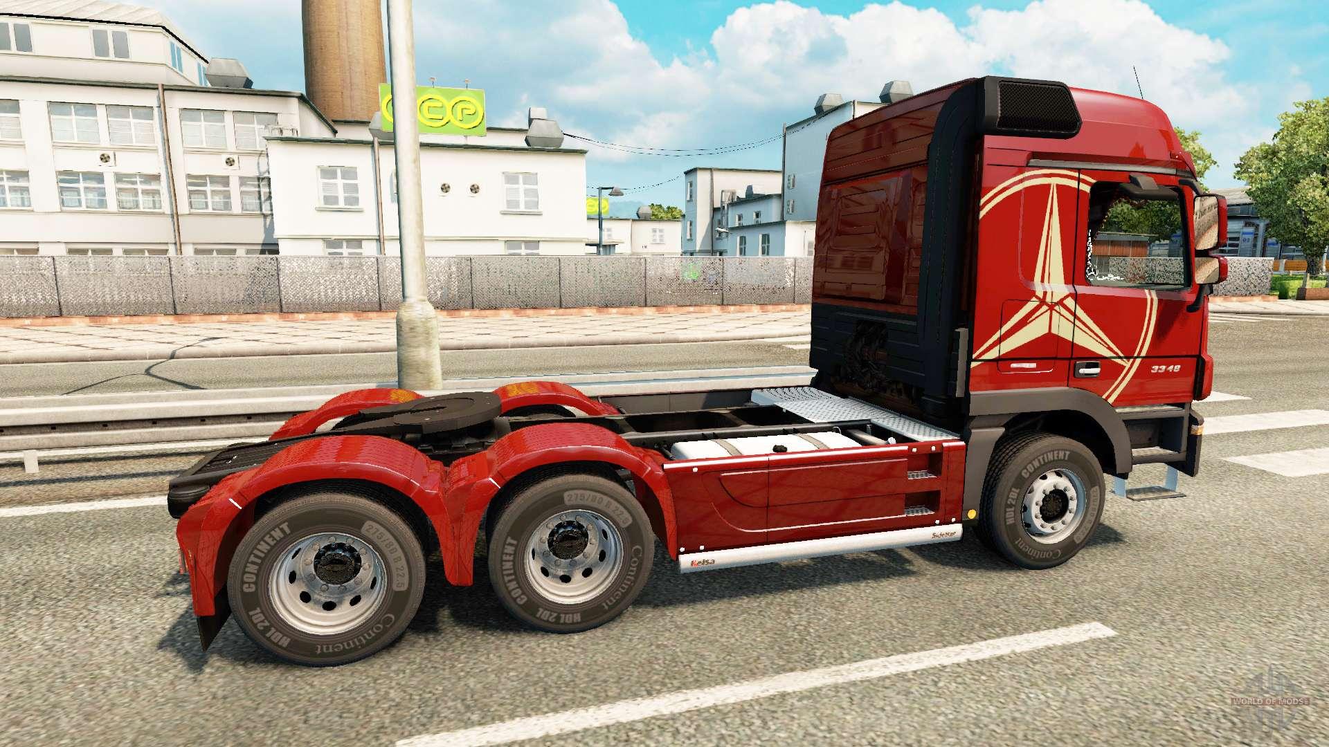 Mercedes benz actros mp3 v2 0 pour euro truck simulator 2 for Mercedes benz euro