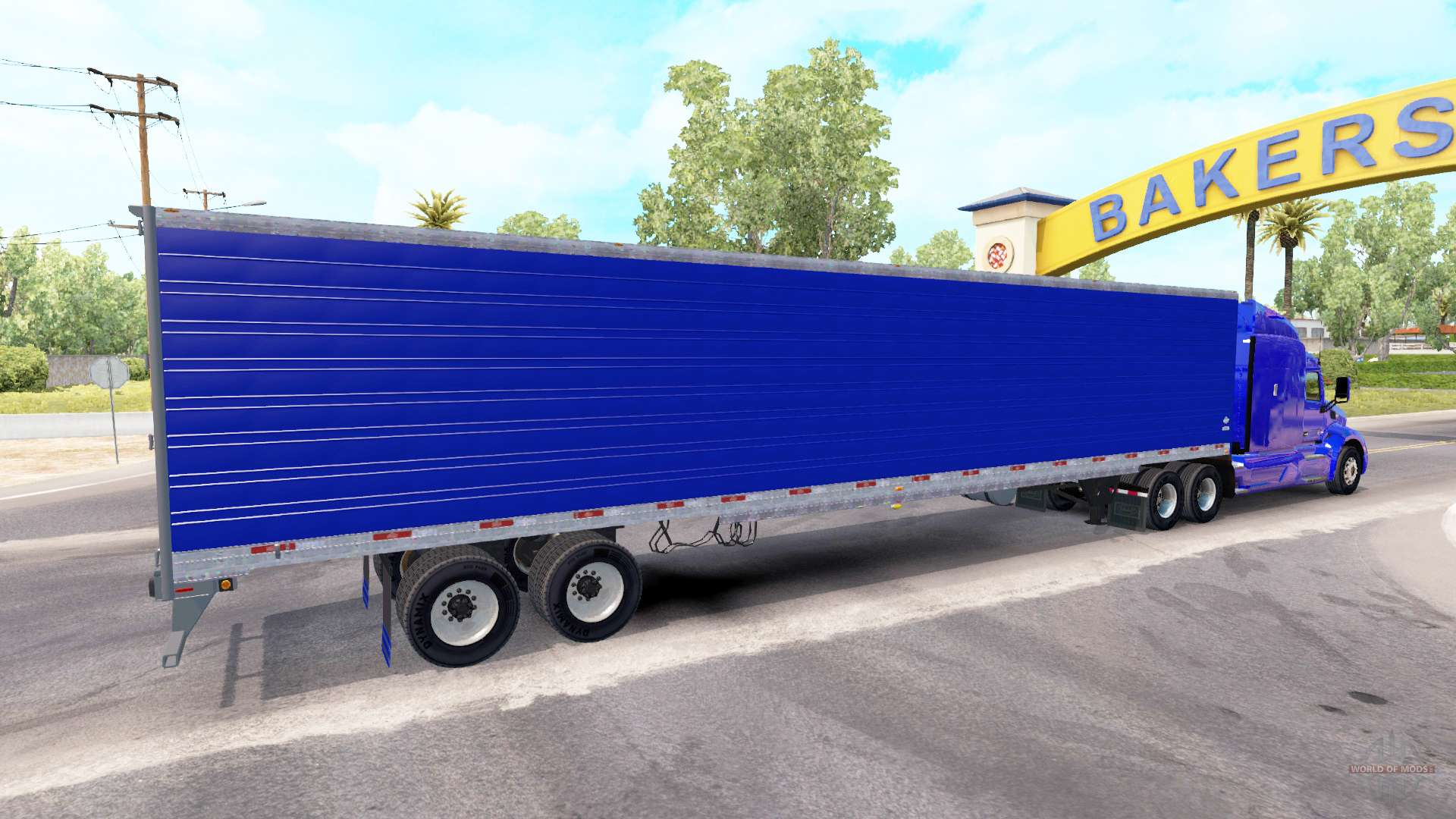 bleu frigorifique semi remorque pour american truck simulator. Black Bedroom Furniture Sets. Home Design Ideas