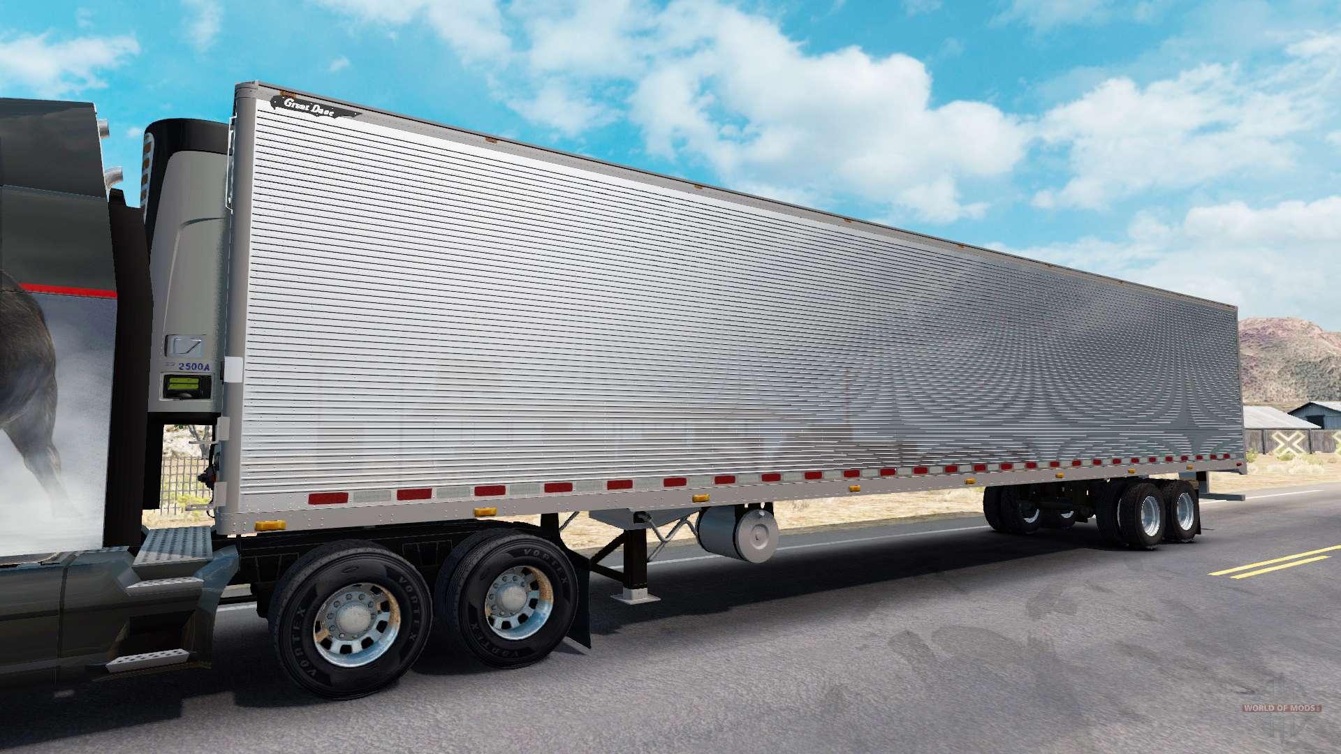 chrom frigorifique remorque pour american truck simulator. Black Bedroom Furniture Sets. Home Design Ideas