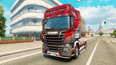 Haut King of the Road auf der Zugmaschine Scania