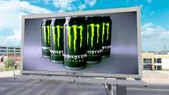 Monster Energy de la publicité sur les panneaux