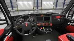 Intérieur rouge Kenworth T680