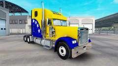 La peau de la Bosnie sur le camion Freightliner