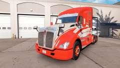 Die Haut der Roten Streifen auf dem truck Kenwor