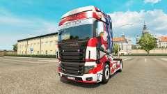 La peau etats-unis sur tracteur Scania R700
