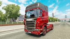 La peau Inter-Trans sur le tracteur Scania