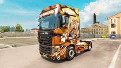 Tiger skin für den truck-Scania R700
