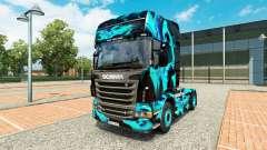 La peau de Fumée Verte pour Scania camion