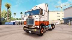La peau USF sur camion Freightliner FLAG
