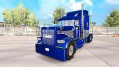 Haut, Blau-Grau, auf der truck-Peterbilt 389