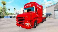 A. Krabbendam de la peau pour camion Scania T