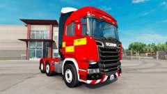 Haut für Feuer-LKW-Zugmaschine Scania R730