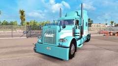 Haut, Blau-Weiß für den truck-Peterbilt 389