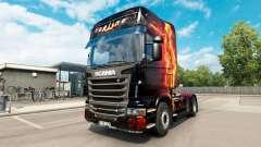 Feuer-Mädchen-skin für den Scania truck