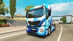 La peau Abstrait Bleu Iveco pour le camion