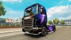 Die Schwarz und Lila skin für Scania-LKW