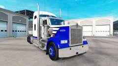 Haut Blue Spike auf den truck Kenworth W900