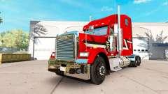 La peau Métallique sur le camion Freightliner Cl