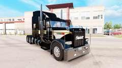 Haut, Silber-schwarz für den truck-Peterbilt 389