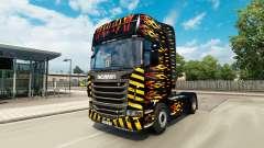 La flamme de la peau pour Scania camion