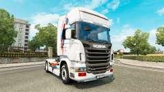 Eine Haut von Superman für Scania-LKW