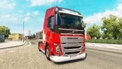 Joyeux Noël de la peau pour Volvo camion