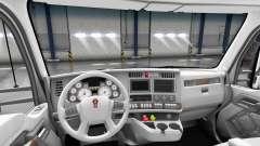Blanc Kenworth T680 intérieur