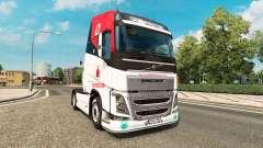 Vodafone Racing skin für Volvo-LKW