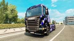 Bleu Échelle de la peau pour Scania camion