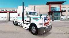 Le Bleu de la peau et le blanc pour le camion Pe