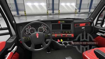 Intérieur rouge Kenworth T680 pour American Truck Simulator