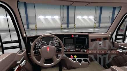 Luxus braune Innenausstattung Kenworth T680 für American Truck Simulator
