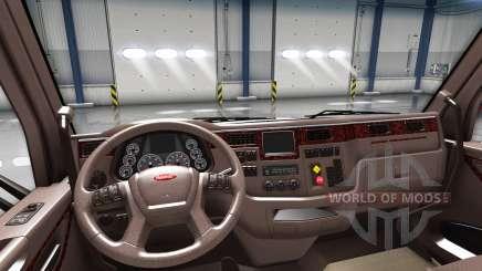De luxe, intérieur brun Peterbilt 579 pour American Truck Simulator