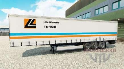 Haut Linjegods auf den trailer für Euro Truck Simulator 2