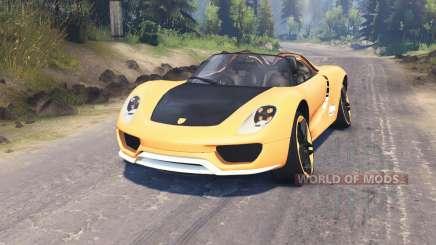 Porsche Carrera pour Spin Tires