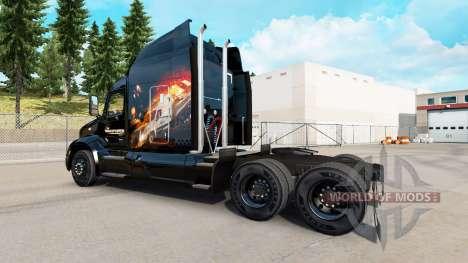 La peau Du Transporteur pour camion Peterbilt pour American Truck Simulator