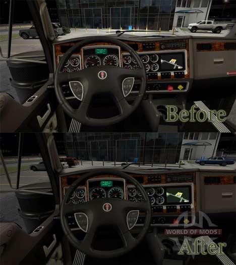 Instrumentenbeleuchtung Farbe des Meerwassers au für American Truck Simulator